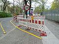 Temporary bike line Alt Moabit Berlin.JPG