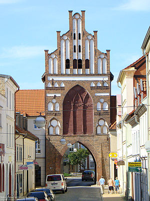 Teterow - Rostocker Tor (Brick Gothic city gate leading to Rostock)