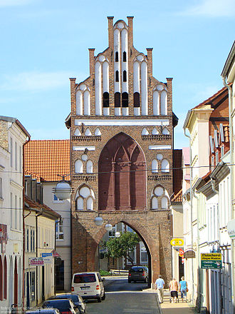 Teterow - Rostocker Tor (Brick Gothic city gate leading to Rostock)