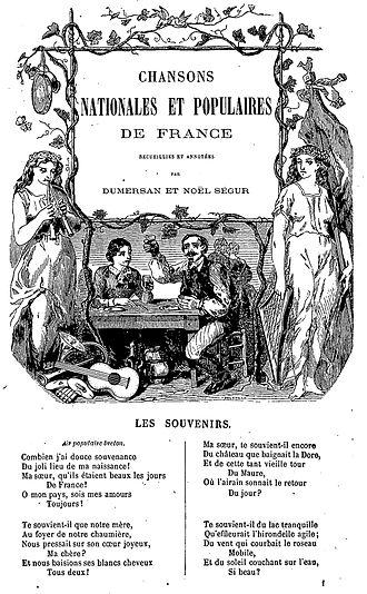 Théophile Marion Dumersan - Image: Théophile Marion Dumersan Chansons nationales et populaires de France
