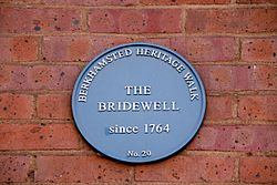The bridewell blue plaque