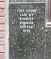 The Burton foundation stone, George Street, Tamworth - geograph.org.uk - 1741037.jpg