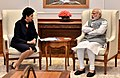 The Chairperson and CEO PepsiCo, Ms. Indra Nooyi calls on the Prime Minister, Shri Narendra Modi, in New Delhi on March 02, 2017.jpg