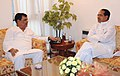 The Chief Minister of Madhya Pradesh, Shri Shivraj Singh Chauhan meeting the Minister of State for Chemicals and Fertilizers, Shri Srikant Jena, in New Delhi on September 13, 2010.jpg