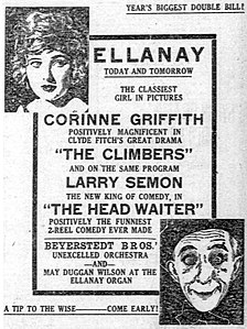 The Climbers - and - The Head Waiter - 1919 newspaperad.jpg