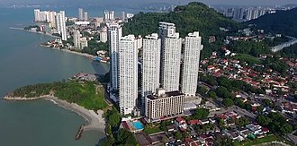 Tanjung Bungah - Residential high-rises such as The Cove (pictured here) have been built within Tanjung Bungah in recent years.
