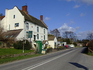 Munslow village in the United Kingdom