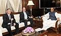 The Defence Minister of Israel, Mr. Moshe Ya'alon calling on the Union Home Minister, Shri Rajnath Singh, in New Delhi on February 19, 2015.jpg