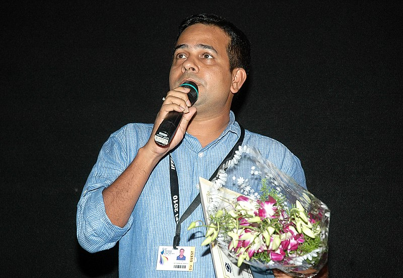 The Director, Shri Chttaranjan Tripathy addressing at the presentation of the film, (Courtroom Nautanki) during the IFFI-2010, at Inox cinema hall, in Panjim, Goa on November 25, 2010.jpg