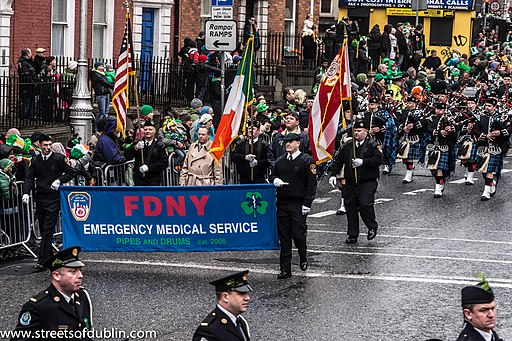 The FDNY EMS Pipes and Drums Band Took Part In The New York Parade On Sunday And Then Jetted To Dublin To March In Dublin On Sunday (8566206960)