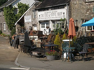 Trecastle - Image: The Fire and Stove Shop ... geograph.org.uk 221069