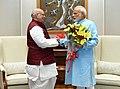 The Governor of Bihar, Shri Lalji Tandon calling on the Prime Minister, Shri Narendra Modi, in New Delhi on August 27, 2018.JPG