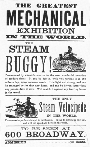 Sylvester H. Roper - Handbill for Roper steam demonstration.