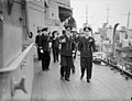 The King Pays 4-day Visit To the Home Fleet. 20 March 1943, Scapa Flow, Wearing the Uniform of An Admiral of the Fleet, the King Paid a 4-day Visit To the Home Fleet. A15245.jpg