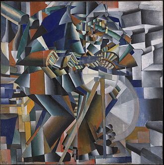 Cubo-Futurism - Kazimir Malevich, The Knife Grinder'' (''Principle of Glittering''), 1913, oil on canvas, 79.5 x 79.5 cm, Yale University Art Gallery