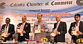 The Minister of State for Civil Aviation, Shri Jayant Sinha releasing a publication at the 187th Annual General Meeting of Calcutta Chamber of Commerce, in Kolkata on October 01, 2018.JPG