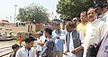 The Minister of State for Culture (Independent Charge), Tourism (Independent Charge) and Civil Aviation, Dr. Mahesh Sharma inspecting the Assi Ghat, in Varanasi on September 05, 2015.jpg