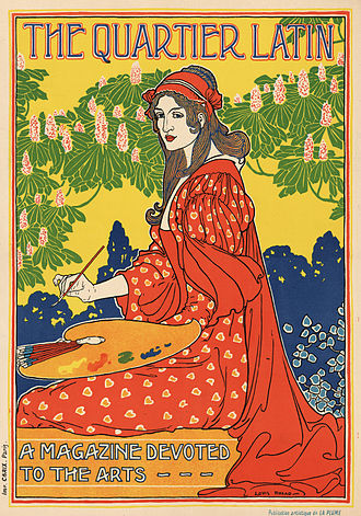 Louis Rhead - The Quartier Latin: a magazine devoted to the arts. Advertising poster ca. 1895