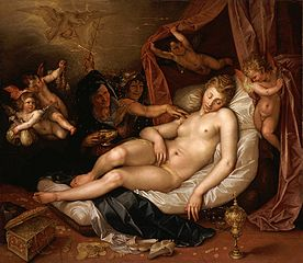 The Sleeping Danae Being Prepared to Receive Jupiter