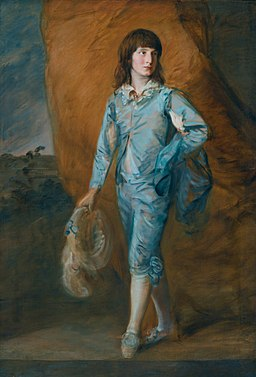 The blue page, by Thomas Gainsborough