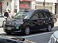 The frontview of Toyota JPN TAXI Takumi (DAA-NTP10-AHXGN) as a taxi of Yuko Taxi.jpg