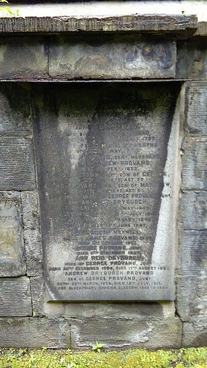 Andrew Provand - The grave of Andrew Dryburgh Provand, Ramshorn Cemetery, Edinburgh