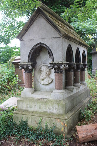 Henry Richard - The grave of Henry Richard, Abney Park Cemetery, London