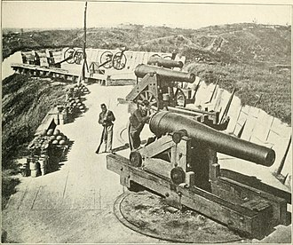 Siege of Vicksburg - Heavy artillery pieces that were used by the Union in order to force the besieged city and its defenders into surrender