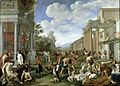 The plague of the Philistines at Ashdod. Oil painting by Pie Wellcome L0011603.jpg