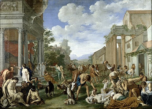 The plague of the Philistines at Ashdod. Oil painting by Pie Wellcome L0011603