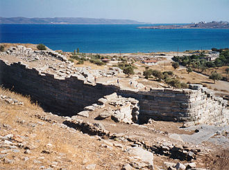 Laurium - Ruins of the ancient theatre at Thorikos