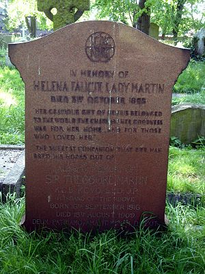 Helena Faucit - Funerary monument, Brompton Cemetery, London