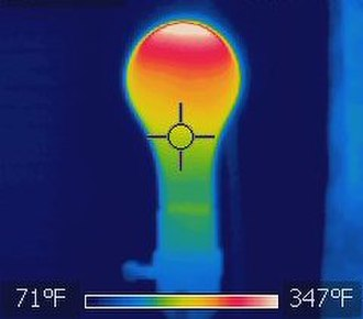 Joule heating - Image: Thermal image of an incandescent light