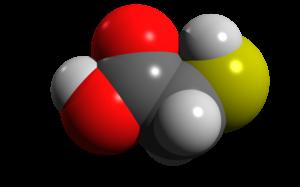 Thioglycolic acid - Image: Thioglycolic acid van der waals