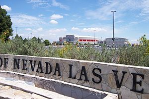 University of Nevada, Las Vegas - The Thomas & Mack Center and adjoining Cox Pavilion house many of the university's athletic teams.