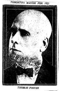 Thomas Foster (Canadian politician) Mayor of Toronto