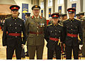 Three Malteese Comissioned Officers who trained with the 86th Cadet Class with Chief of Staff (5516637897).jpg