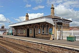 Gobowen railway station - Image: Ticket office, Gobowen railway station (geograph 4024060)