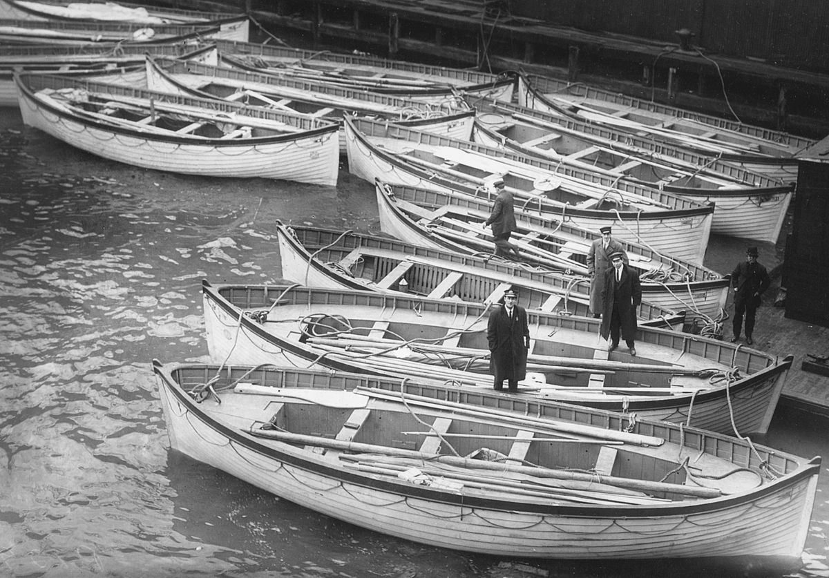 canots de sauvetage du titanic � wikip233dia