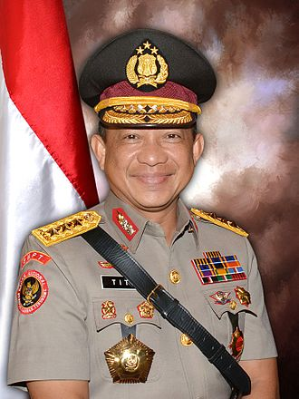 Chief of police - Police Gen. Tito Karnavian is the Current Indonesian National Police chief (starting from 13 July 2016)