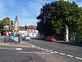 Tiverton , Gold Street, Clock Tower and Statue - geograph.org.uk - 1282276.jpg