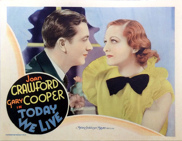 Today We Live lobby card 1933.JPG