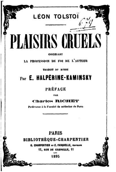 File:Tolstoï - Plaisirs cruels.djvu