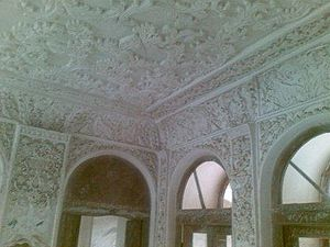 Stucco - Stucco from the Sardar Rafie Yanehsari building (Shahryari building 1), Hezarjarib District, Behshahr County, Iran