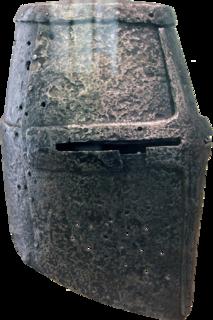 Great helm European helmet, 1220 to 1350 AD