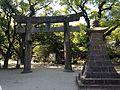 Torii and nightlight of Sumiyoshi Shrine.JPG