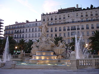 Var (department) - Image: Toulon place de la liberté fontaine