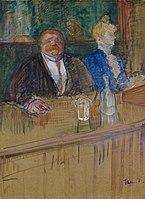Toulouse-Lautrec - Au café Le patron et la caissière chlorotique, 1898.jpg