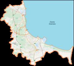 Mapa lokalizacyjna Trójmiasta