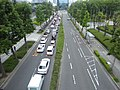 Traffic jam in front of Matsushita IMP Building on 26th June 2019.jpg